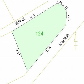 124号地 区画図