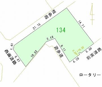 134号地 区画図