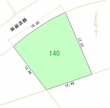 140号地 区画図