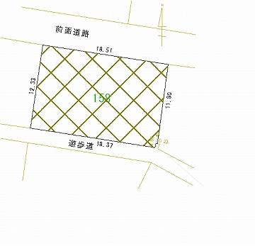 158号地 区画図