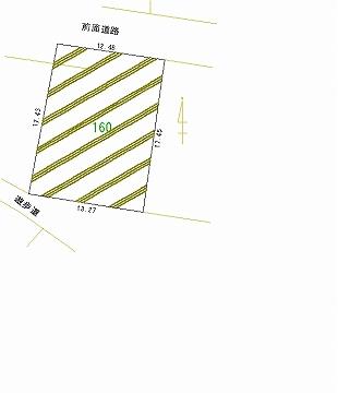 160号地 区画図