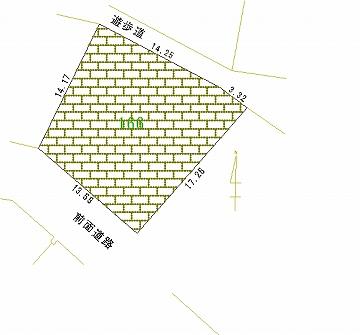 166号地 区画図