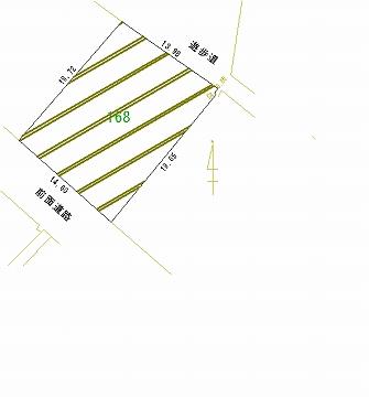168号地 区画図