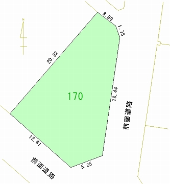 170号地 区画図