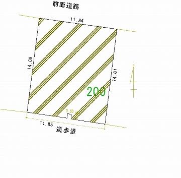 200号地 区画図
