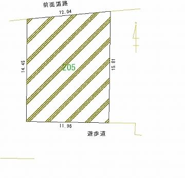 205号地 区画図