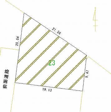 023号地 区画図
