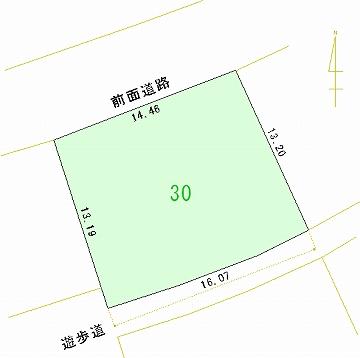 030号地 区画図