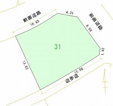 031号地 区画図