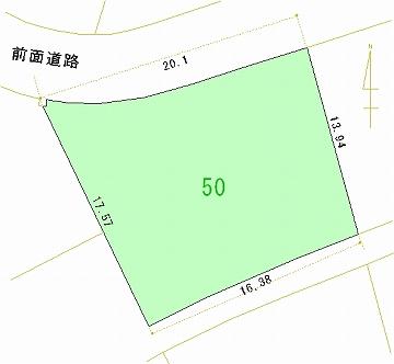 050号地 区画図