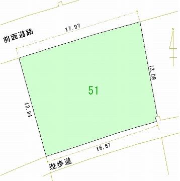 051号地 区画図