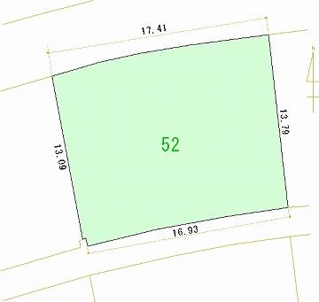 052号地 区画図