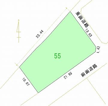055号地 区画図