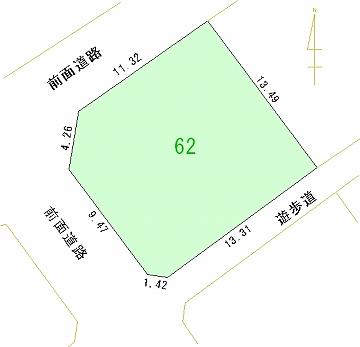 062号地 区画図