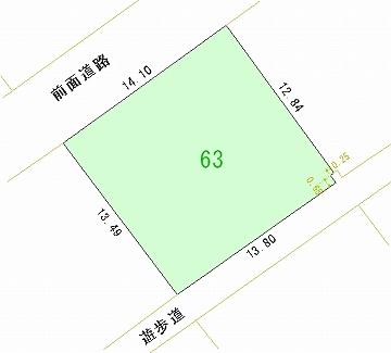 063号地 区画図