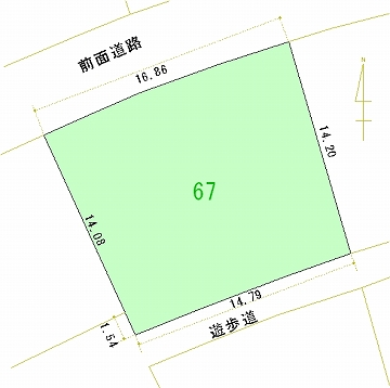 067号地 区画図