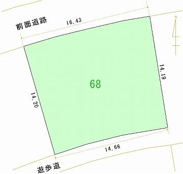 068号地 区画図