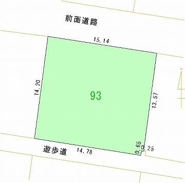 093号地 区画図